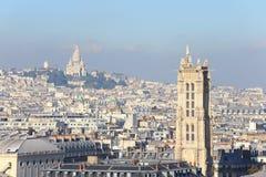 Sacre Coeur Basilique i Paris Fotografering för Bildbyråer