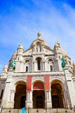 Sacre Coeur Basilique in Montmartre Paris Stock Photos