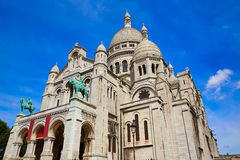 Sacre Coeur Basilique in Montmartre Paris Royalty Free Stock Images