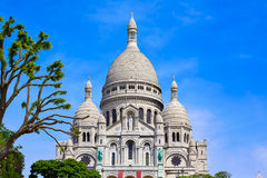 Sacre Coeur Basilique in Montmartre Paris Stock Photo