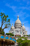 Sacre Coeur Basilique in Montmartre Paris Royalty Free Stock Photos