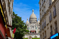 Sacre Coeur Basilique in Montmartre Paris Stock Image