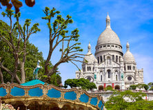 Sacre Coeur Basilique in Montmartre Paris Royalty Free Stock Photography