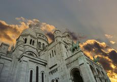 Sacre Coeur basilique, Paris Royalty Free Stock Photos
