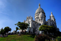 Sacre Coeur on Butte Montmartre Stock Photography