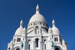 Sacre Coeur - catedral famosa em Paris, France Fotografia de Stock Royalty Free