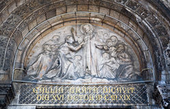 Sacre Coeur Cathedral Artwork above Entrance Stock Image