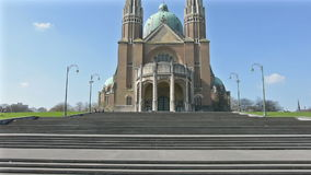 The Sacre Coeur Cathedral in Brussels stock video footage