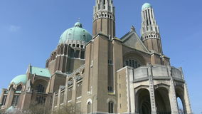 The Sacre Coeur Cathedral in Brussels stock video