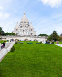 Sacre Coeur Cathedral in Montmartre Royalty Free Stock Photo