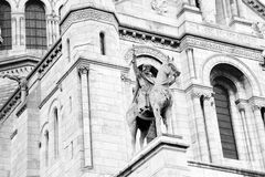 Sacre coeur Cathedral - Paris, detail royalty free stock photos