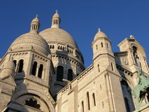 Sacre Coeur Cathedral, Paris, France. Shop bottom-up; no people visible Stock Images