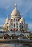 Sacre Coeur Cathedral during spring time in Paris, France Royalty Free Stock Image