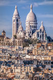 Sacre Coeur Cathedral during spring time in Paris, France Stock Photo