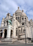 Sacre Coeur Church Vertical View, Monmatre Paris France Royalty Free Stock Images
