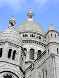 Sacre Coeur Cupolas in Paris, France Stock Photography