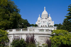 Sacre Coeur dans Mont Martre, Paris Photo libre de droits