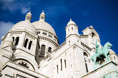 Sacre Coeur dans Montmartre, Paris Images libres de droits
