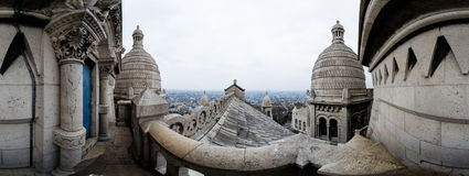 Sacre Coeur de Paris rooftop Royalty Free Stock Photography
