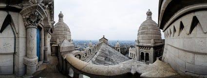 Sacre Coeur de Paris tak Royaltyfri Fotografi