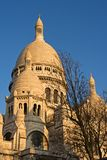 The Sacre Coeur at dusk. The dome of the Sacre Coeur Basilica at dusk - Montmartre, Paris, France stock images