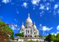 Sacre-Coeur em Montmartre, Paris Foto de Stock Royalty Free