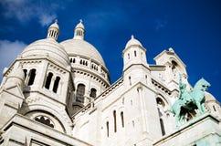 Sacre Coeur en Montmartre, París Imágenes de archivo libres de regalías