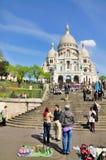 Sacre Coeur en París, Francia Fotografía de archivo libre de regalías
