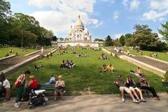Sacre Coeur en París Fotografía de archivo libre de regalías