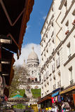 Sacre Coeur, Famous Church Tourism Landmark in Paris France Stock Photography