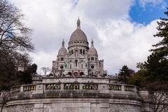 Sacre Coeur, Famous Church Tourism Landmark in Paris France Stock Photo