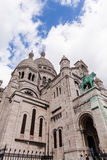 Sacre Coeur, Famous Church Tourism Landmark in Paris France Stock Photos
