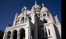 Sacre Coeur - Front Elevation. Sacre Coeur (Holy Cross) cathedral in Paris France stock image