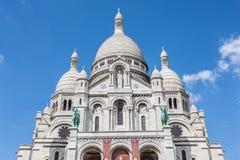 Sacre Coeur i Paris, Frankrike Fotografering för Bildbyråer