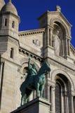 Sacre Coeur i Paris, Frankrike, 15 November 2015 Arkivbilder