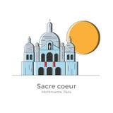 Sacre Coeur illustration Vektor Illustrationer