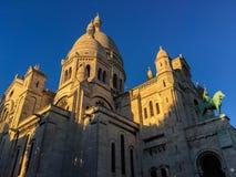 Sacre Coeur katedra, Montmartre, Paryż, Francja Zdjęcia Royalty Free