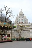 Sacre Coeur katedra w Paryż Zdjęcia Royalty Free