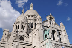 Sacre-Coeur, Montmartre. The Sacre-Coeur cathedral of Montmartre in Paris, France Royalty Free Stock Image