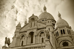 Sacre coeur at Montmartre Royalty Free Stock Photo