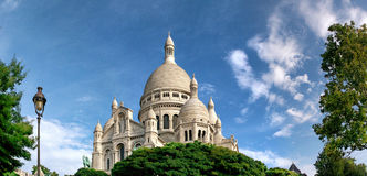 The Sacre Coeur in Montmartre. A panorama of the Sacre Coeur in Montmartre, France Stock Image