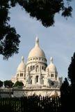 Sacre Coeur, Montmartre, Parijs Stock Foto's