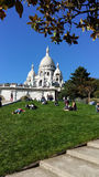 Sacre-Coeur in Montmartre, Parijs Stock Afbeeldingen