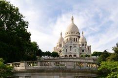 Sacre Coeur Montmartre in Parijs, Frankrijk Stock Afbeelding