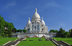 Sacre-Coeur in Montmartre, Paris Stock Photo