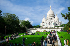 Sacre Coeur in Montmartre, Paris Stock Photography