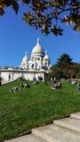 Sacre-Coeur in Montmartre, Paris Stock Images
