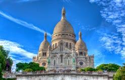 Sacre Coeur, Montmartre, Paris. The Basilica Sacre Coeur on the Montmartre in Paris, France Stock Photo