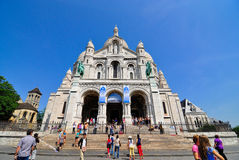 Sacre-coeur, montmartre in paris france Stock Photo