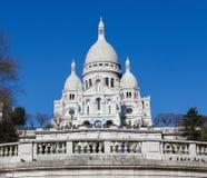 Sacre Coeur in Montmartre, Paris Stock Images
